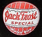 Jack Frost Special Winter Beer Label and red and white